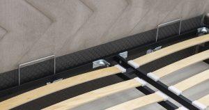 Мягкая кровать Милана 160 см светлый кварцевый серый с подъемным механизмом 24910 рублей, фото 8 | интернет-магазин Складно