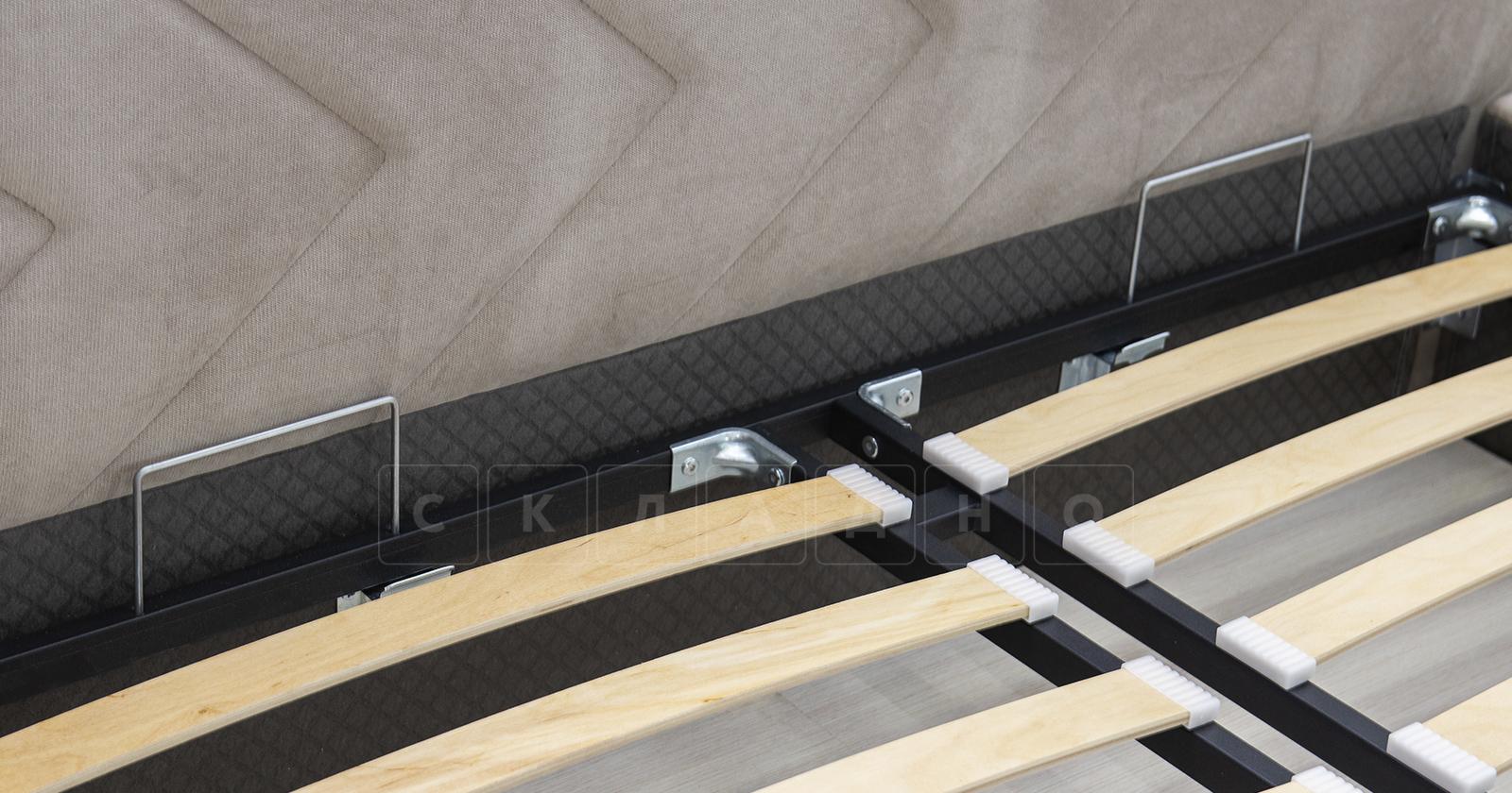 Мягкая кровать Милана 160 см светлый кварцевый серый с подъемным механизмом фото 8 | интернет-магазин Складно