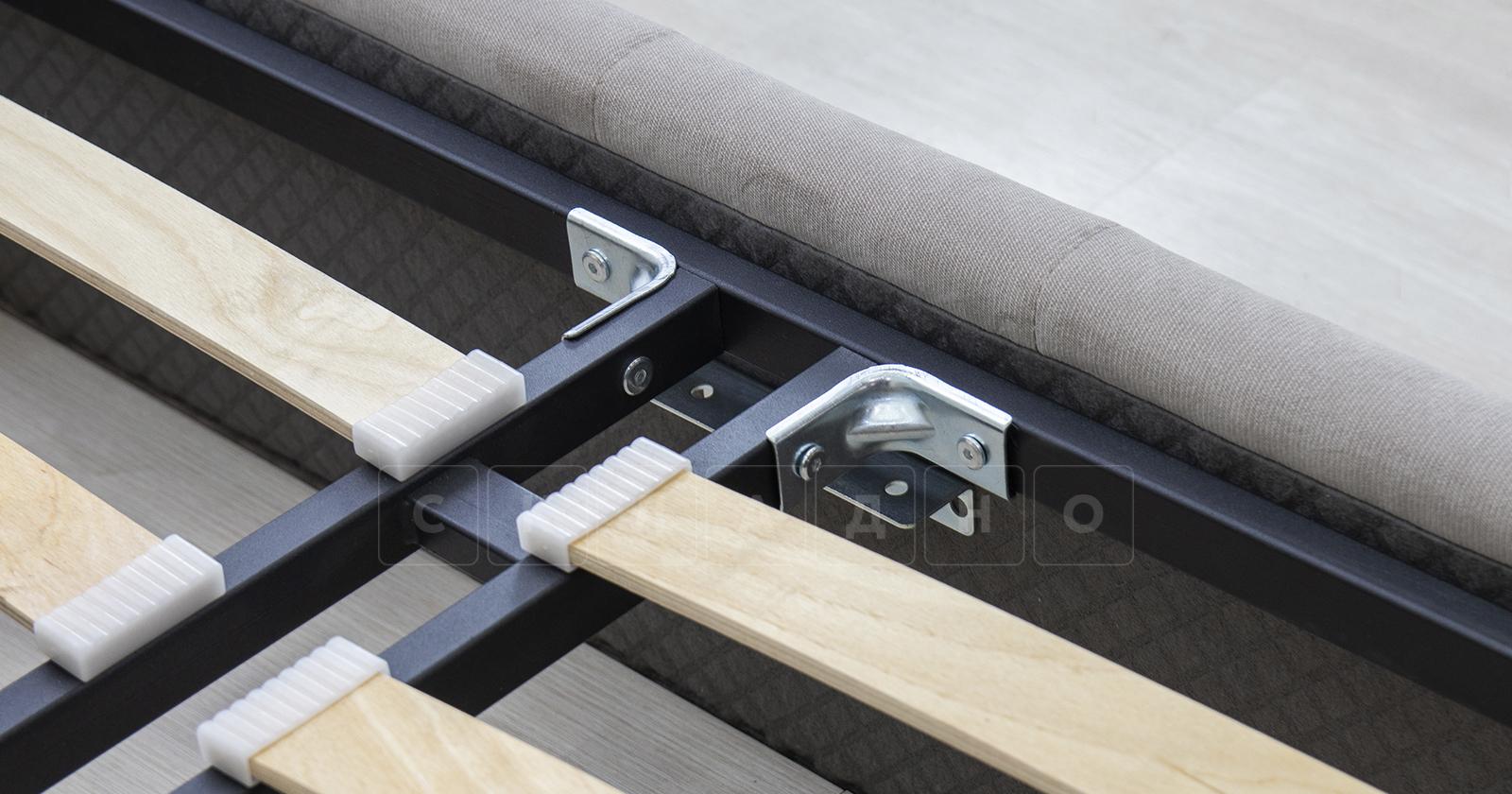 Мягкая кровать Милана 160 см светлый кварцевый серый с подъемным механизмом фото 9 | интернет-магазин Складно