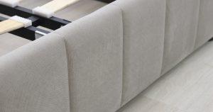 Мягкая кровать Милана 160 см светлый кварцевый серый с подъемным механизмом 24910 рублей, фото 5 | интернет-магазин Складно