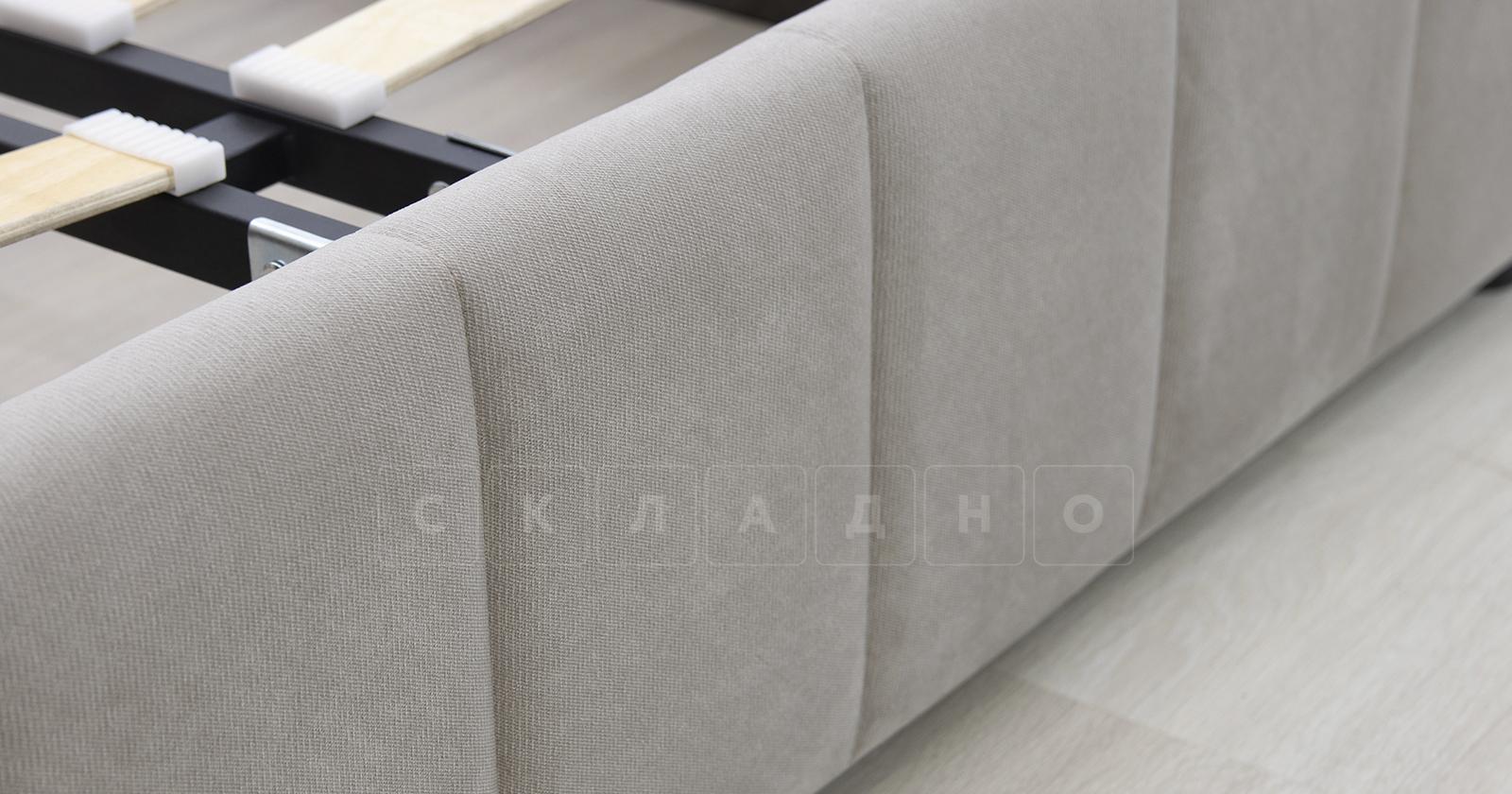 Мягкая кровать Милана 160 см светлый кварцевый серый с подъемным механизмом фото 5 | интернет-магазин Складно