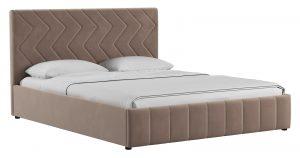 Мягкая кровать Милана 160 см карамельный тауп с подъемным механизмом-14377 фото | интернет-магазин Складно