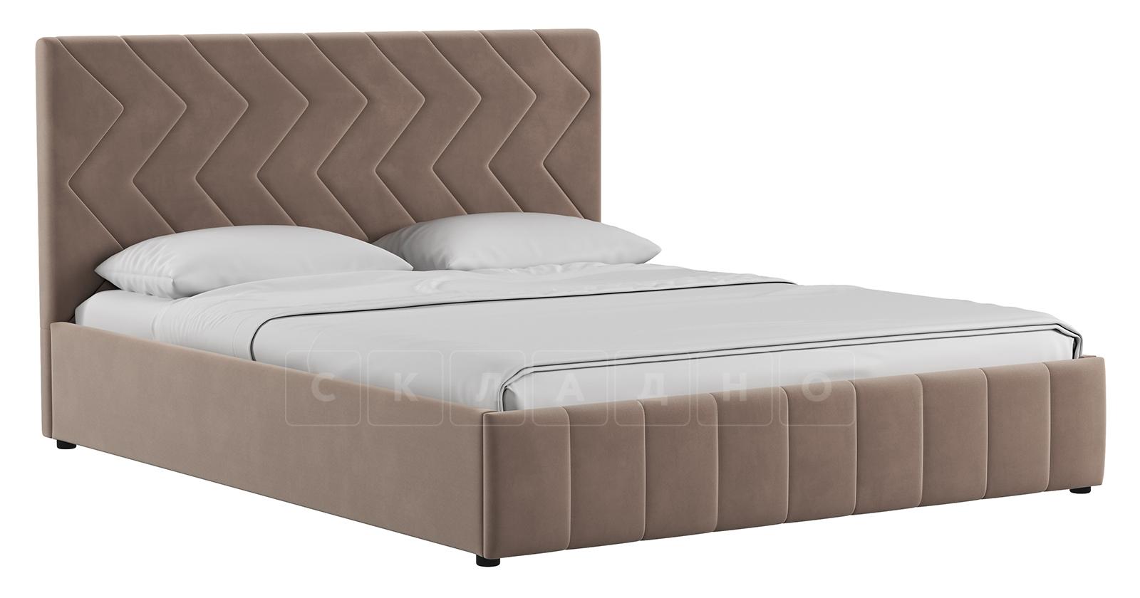 Мягкая кровать Милана 160 см карамельный тауп с подъемным механизмом фото 1 | интернет-магазин Складно