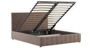 Мягкая кровать Милана 160 см карамельный тауп с подъемным механизмом 16970 рублей, фото 2 | интернет-магазин Складно