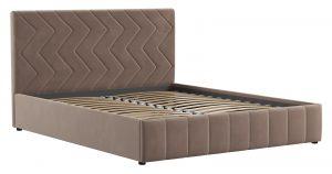 Мягкая кровать Милана 160 см карамельный тауп с подъемным механизмом 16970 рублей, фото 3 | интернет-магазин Складно