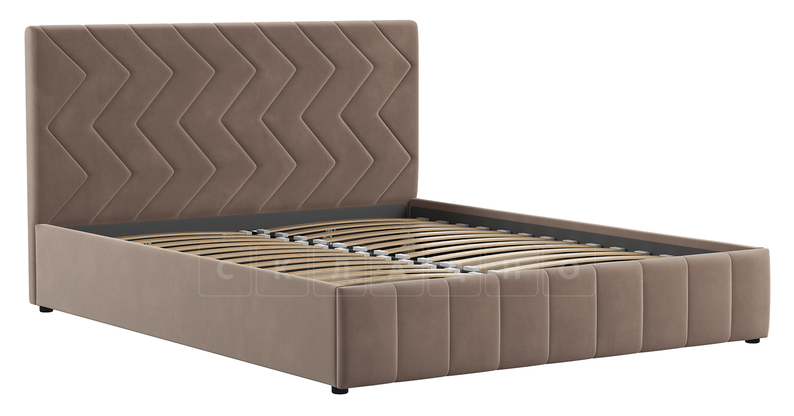 Мягкая кровать Милана 160 см карамельный тауп с подъемным механизмом фото 3 | интернет-магазин Складно