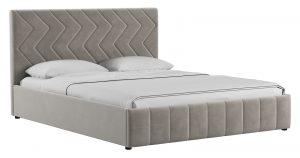 Мягкая кровать Милана 160 см светлый кварцевый серый с подъемным механизмом  24910  рублей, фото 1 | интернет-магазин Складно
