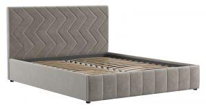 Мягкая кровать Милана 160 см светлый кварцевый серый с подъемным механизмом 24910 рублей, фото 2 | интернет-магазин Складно