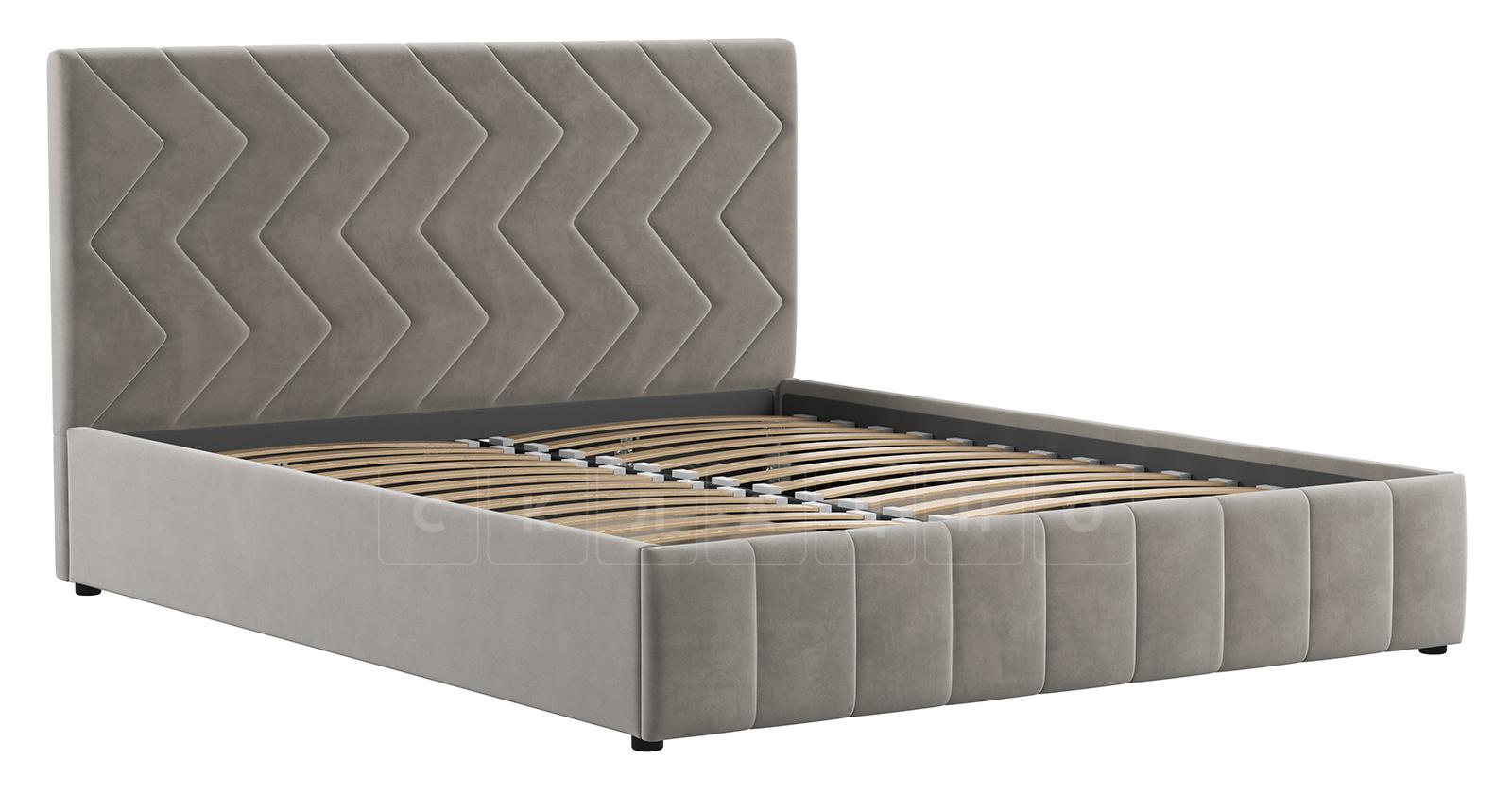 Мягкая кровать Милана 160 см светлый кварцевый серый с подъемным механизмом фото 2 | интернет-магазин Складно