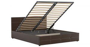 Мягкая кровать Синди 160 см шоколад с подъемным механизмом 15950 рублей, фото 2   интернет-магазин Складно