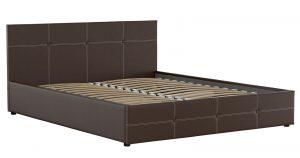 Мягкая кровать Синди 160 см шоколад без подъемного механизма 12950 рублей, фото 2 | интернет-магазин Складно