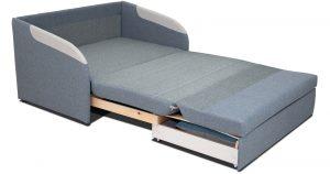 Диван-кровать с узкими подлокотниками Громит 120 серый ТД 133 23120 рублей, фото 2 | интернет-магазин Складно