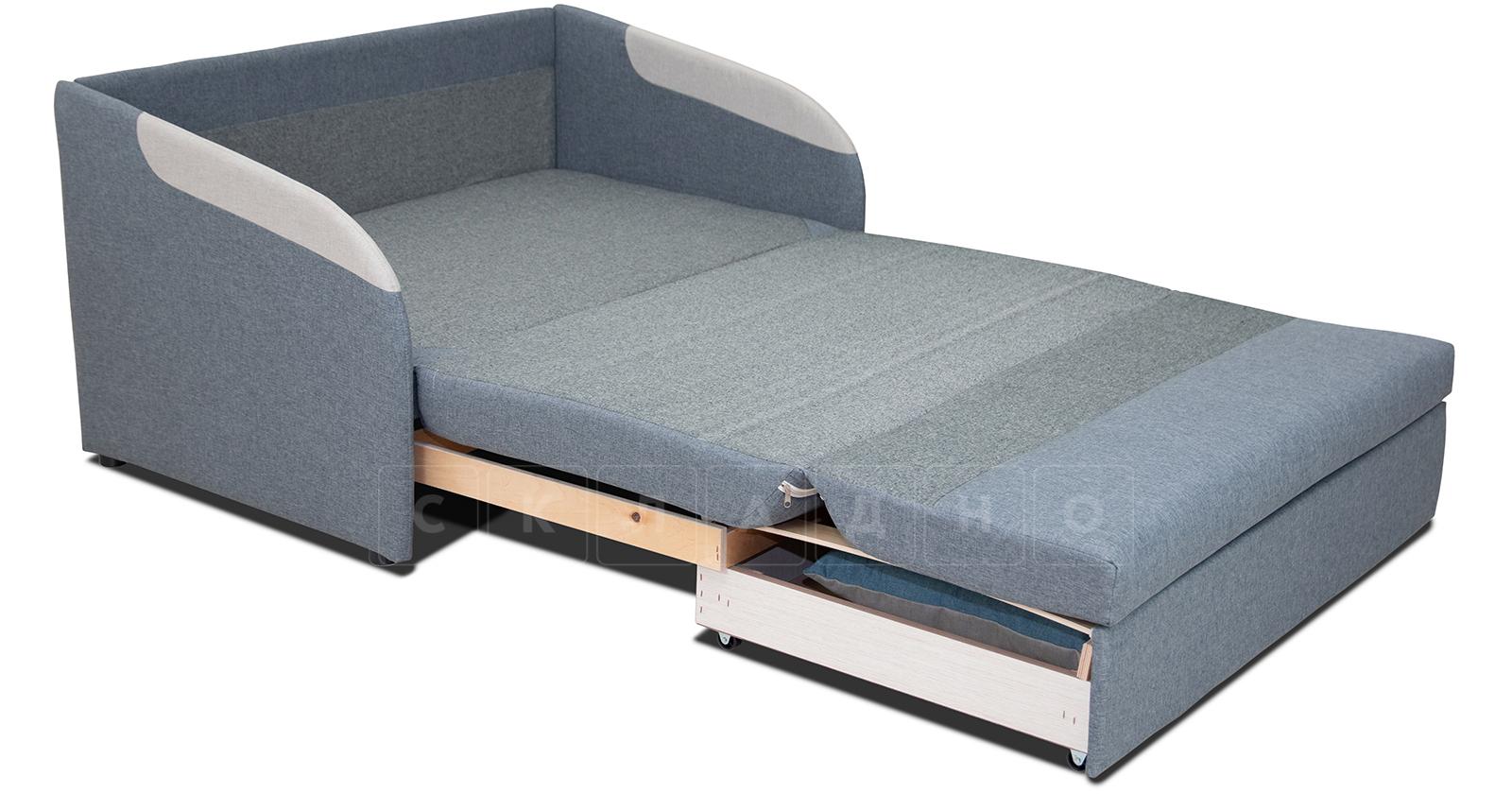 Диван-кровать с узкими подлокотниками Громит 120 серый ТД 133 фото 2 | интернет-магазин Складно