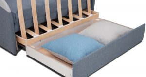 Диван-кровать с узкими подлокотниками Громит 120 серый ТД 133 23120 рублей, фото 3 | интернет-магазин Складно