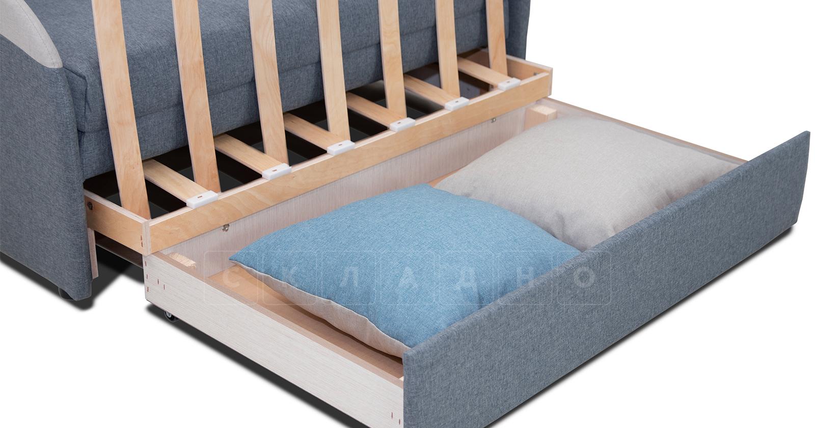 Диван-кровать с узкими подлокотниками Громит 120 серый ТД 133 фото 3 | интернет-магазин Складно