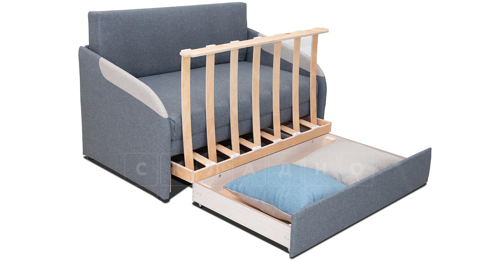 Диван-кровать с узкими подлокотниками Громит 120 серый ТД 133 фото 4 | интернет-магазин Складно