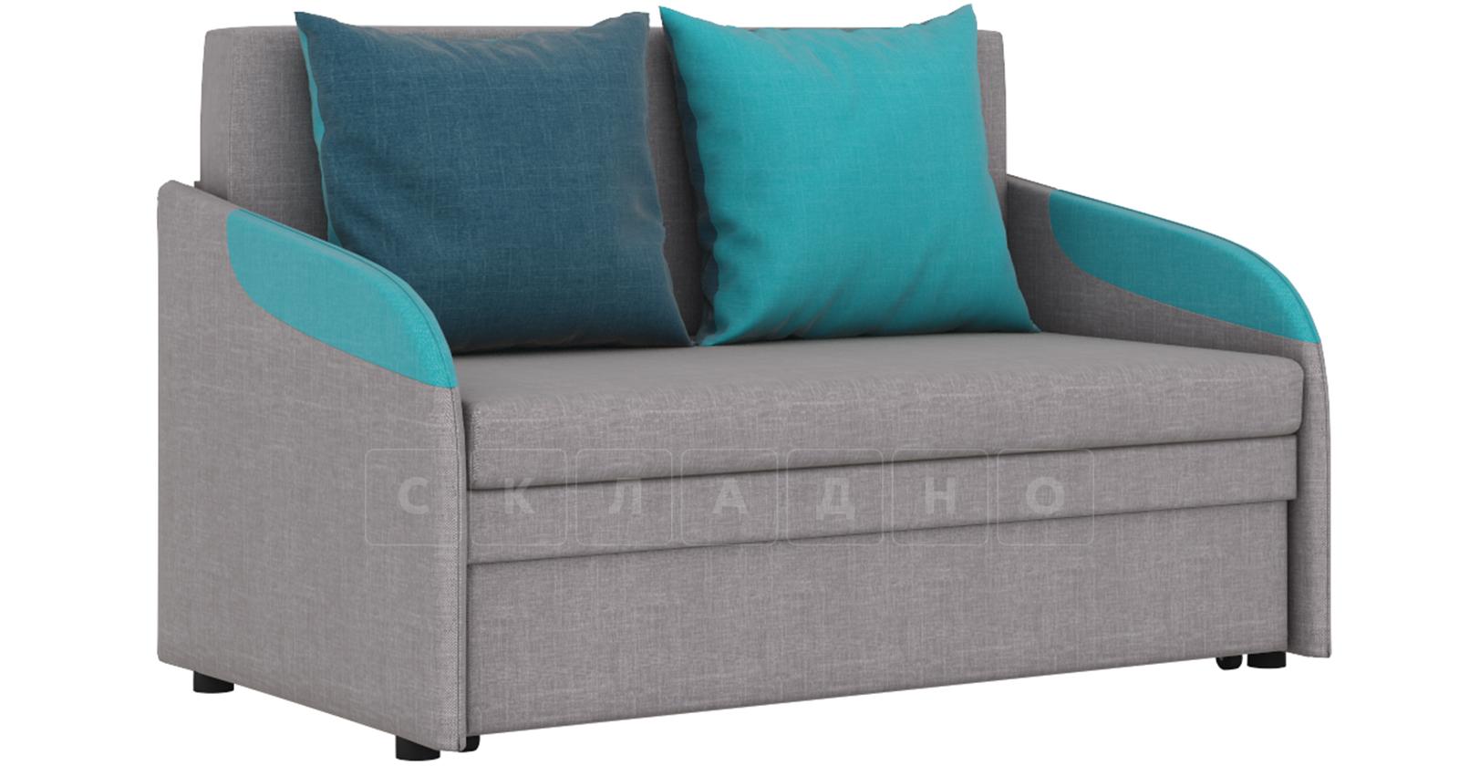 Диван-кровать с узкими подлокотниками Громит 120 серый ТД 133 фото 1 | интернет-магазин Складно