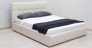 Мягкая кровать Хлоя 160 см сливочный с подъемным механизмом 23950 рублей, фото 4   интернет-магазин Складно