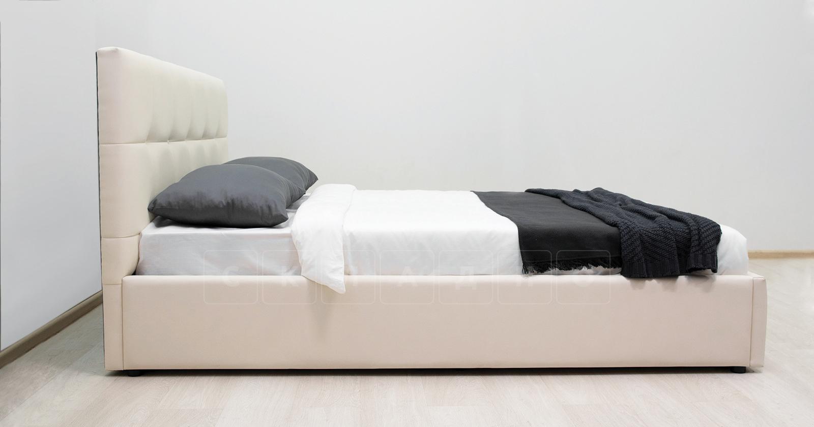 Мягкая кровать Хлоя 160 см сливочный с подъемным механизмом фото 6   интернет-магазин Складно