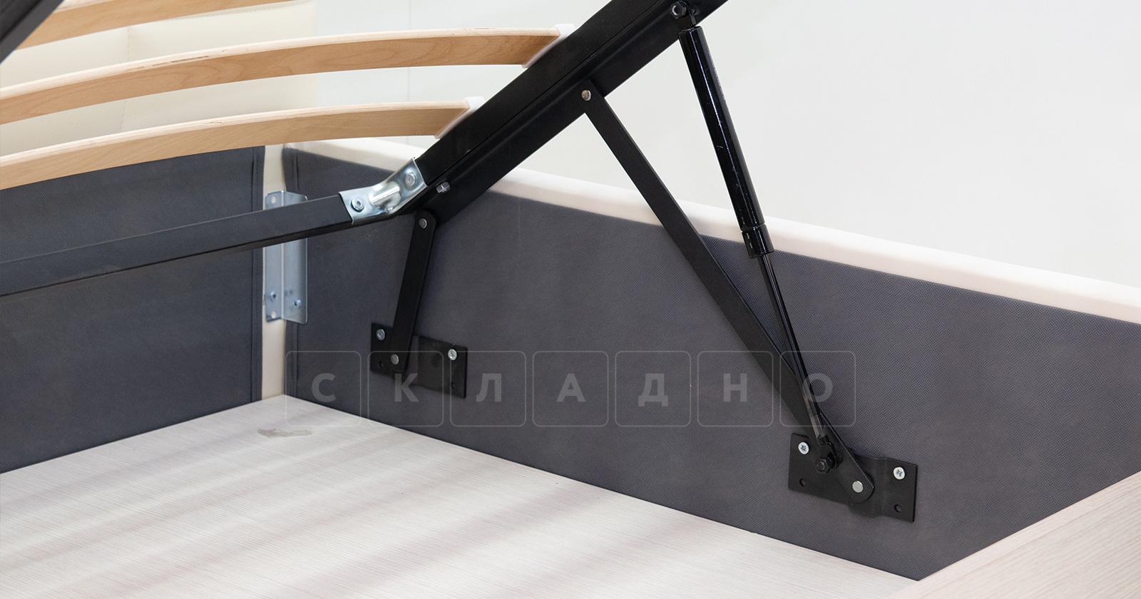 Мягкая кровать Хлоя 160 см шоколад с подъемным механизмом фото 6 | интернет-магазин Складно