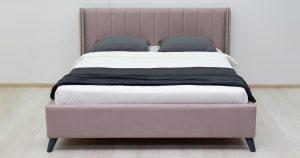 Мягкая кровать Мелисса 160 см велюр ява 16790 рублей, фото 4 | интернет-магазин Складно