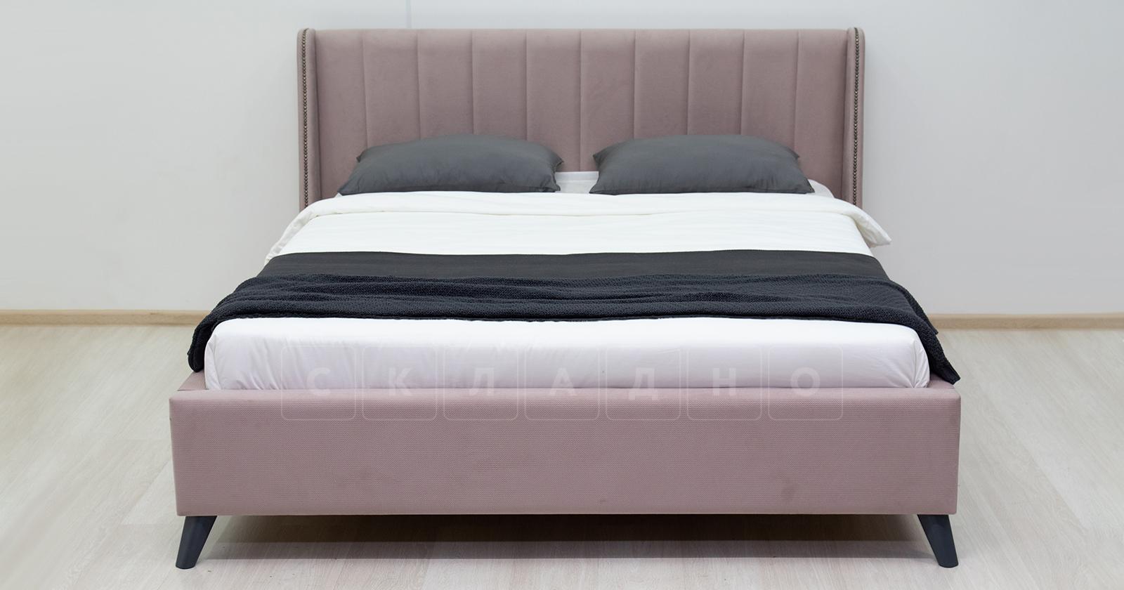 Мягкая кровать Мелисса 160 см велюр ява фото 4 | интернет-магазин Складно