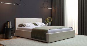 Мягкая кровать Синди 160 см бежевый с подъемным механизмом 15950 рублей, фото 5 | интернет-магазин Складно