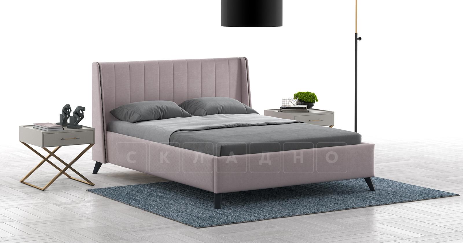 Мягкая кровать Мелисса 160 см велюр ява фото 3 | интернет-магазин Складно