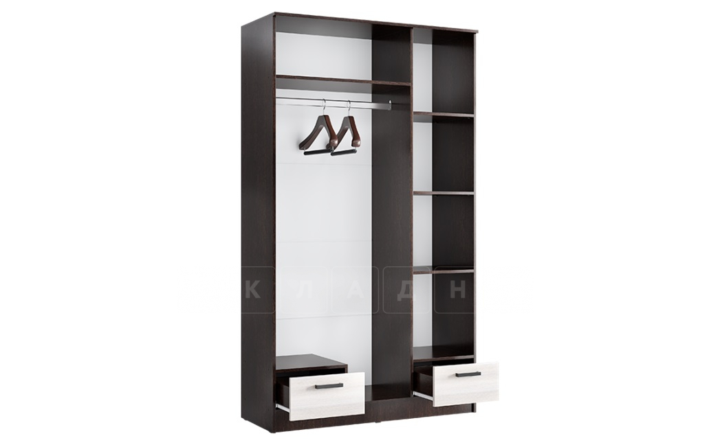 Шкаф трехстворчатый Адель 1,2 с 2 ящиками фото 3 | интернет-магазин Складно