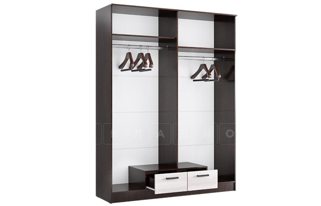 Шкаф четырехстворчатый Адель 1,6 с 2 ящиками фото 3 | интернет-магазин Складно