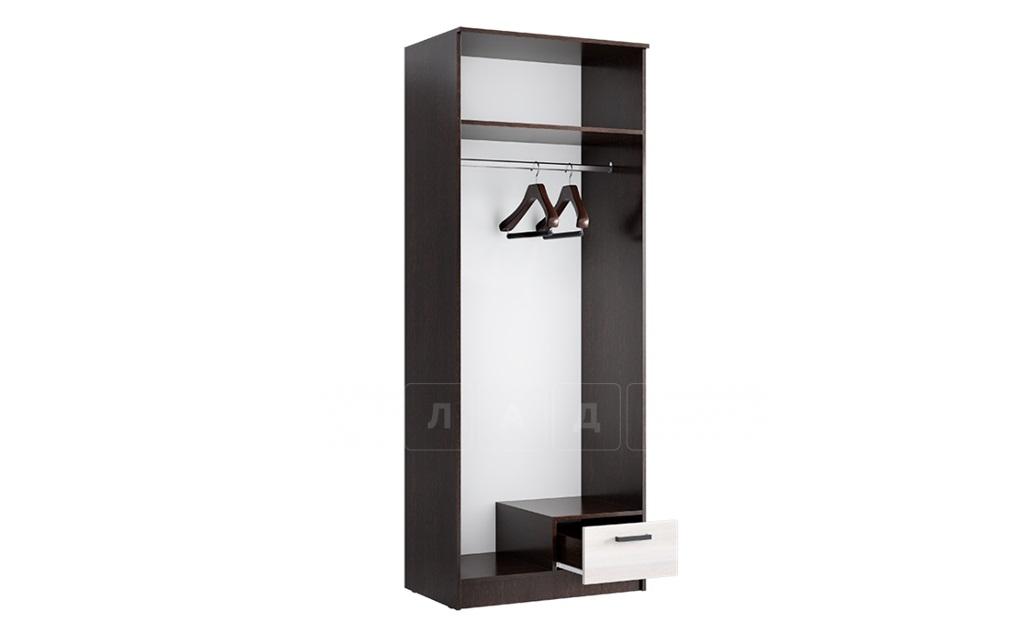 Шкаф двустворчатый Адель 0,8 с ящиком фото 3 | интернет-магазин Складно