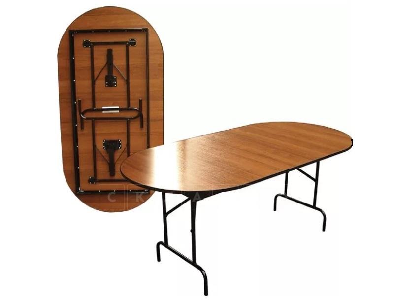 Складной стол Пьедестал овальный 120 х 60 см. фото 2 | интернет-магазин Складно