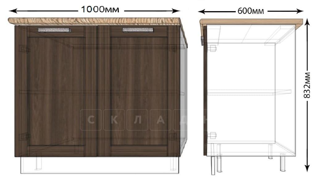Кухонный шкаф напольный Лофт ШН100 фото 1   интернет-магазин Складно