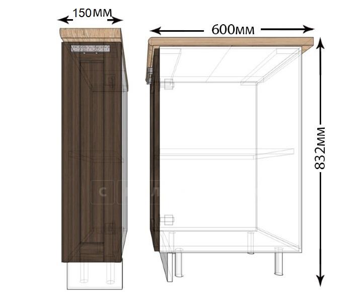 Кухонный шкаф напольный Лофт ШНБ15 бутылочница фото 1 | интернет-магазин Складно