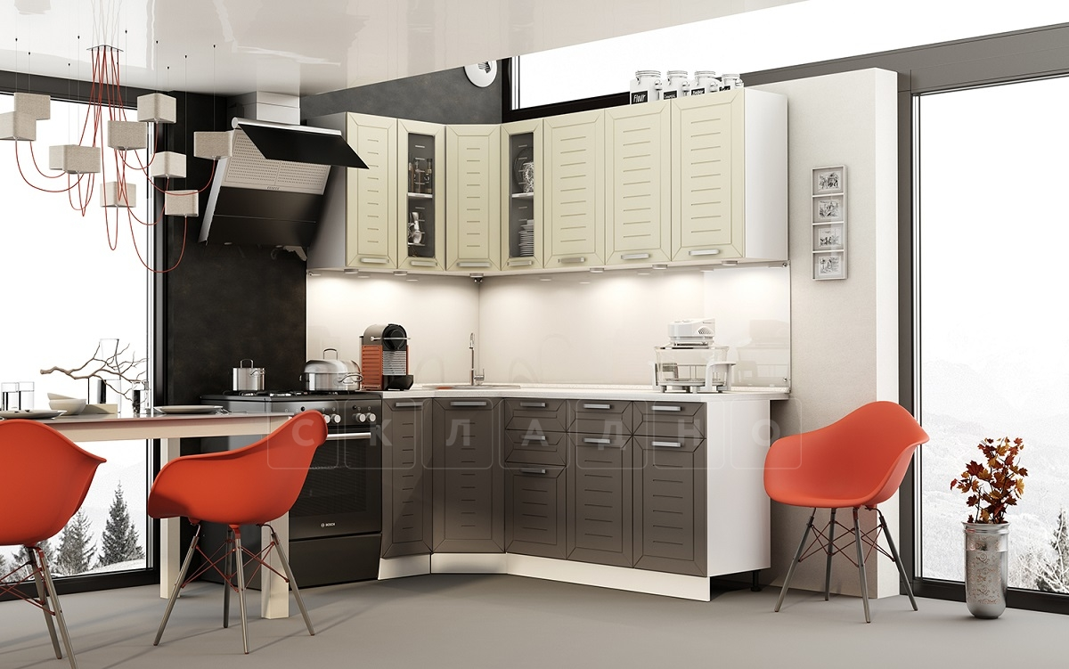 Кухня угловая Честер 1,1х2,0 м фото 1 | интернет-магазин Складно