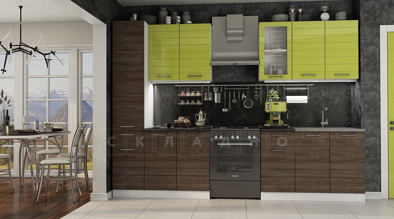 Кухонный гарнитур Ривьера 2,4 м с пеналом фото 1 | интернет-магазин Складно