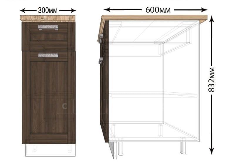 Кухонный шкаф напольный Лофт ШН1Я30 с 1 ящиком фото 1 | интернет-магазин Складно