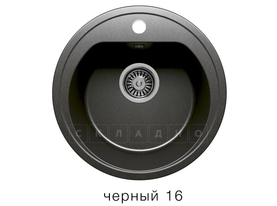 Кухонная мойка POLYGRAN F-05 из искусственного камня D45 см фото 6   интернет-магазин Складно