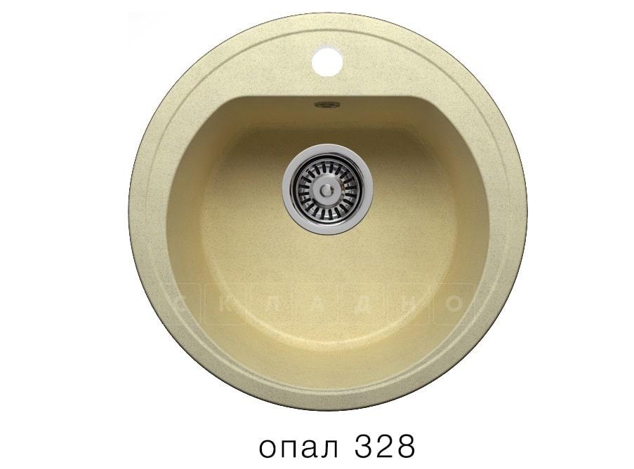 Кухонная мойка POLYGRAN F-05 из искусственного камня D45 см фото 3   интернет-магазин Складно