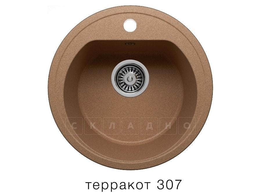 Кухонная мойка POLYGRAN F-05 из искусственного камня D45 см фото 8   интернет-магазин Складно