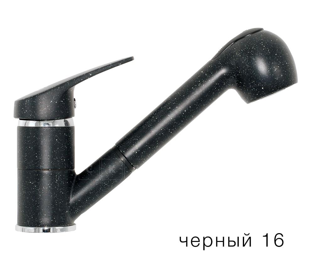 Смеситель кухонный Низкая лейка в цвет мойки Polygran фото 6 | интернет-магазин Складно