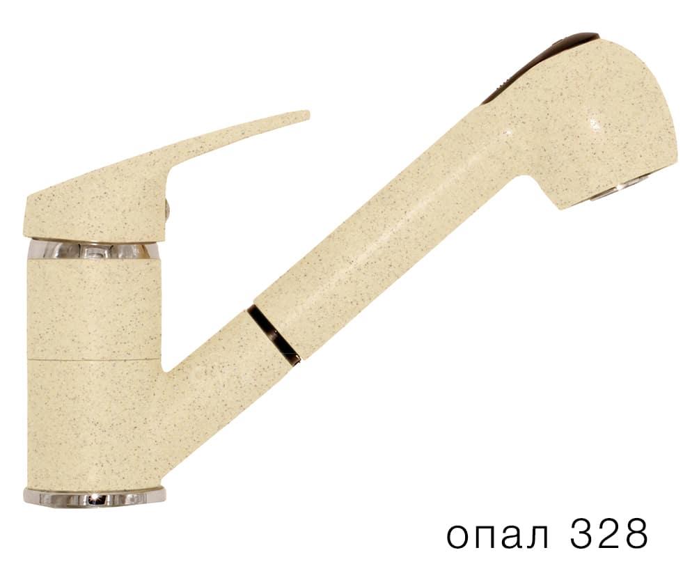 Смеситель кухонный Низкая лейка в цвет мойки Polygran фото 3 | интернет-магазин Складно