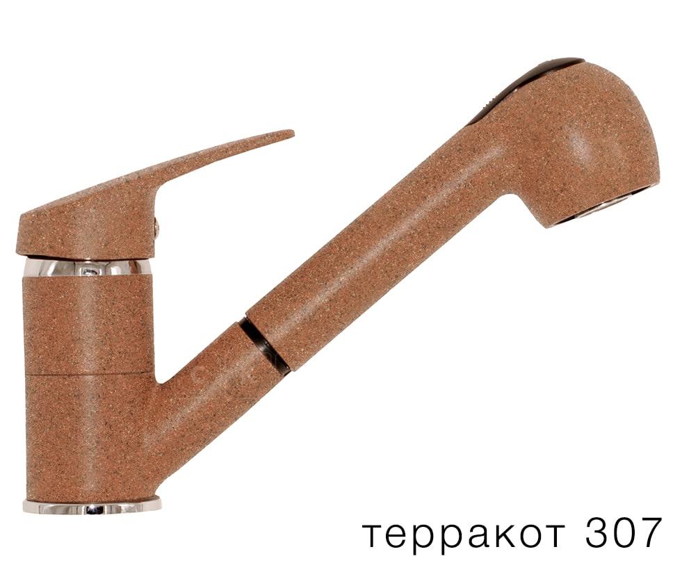 Смеситель кухонный Низкая лейка в цвет мойки Polygran фото 8 | интернет-магазин Складно