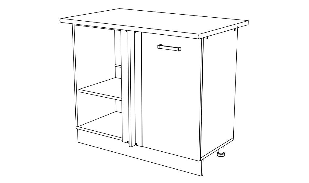 Кухонный шкаф напольный угловой Мальва ШНУ100 фото 1 | интернет-магазин Складно