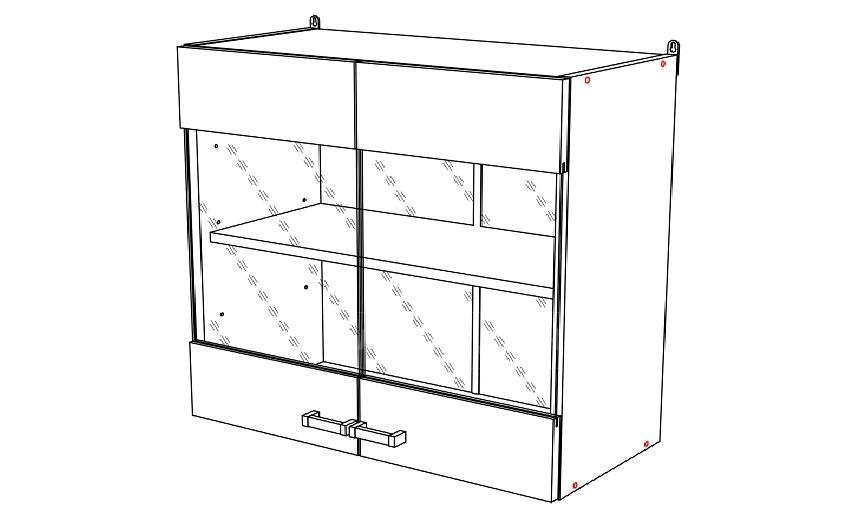 Кухонный навесной шкаф Мальва ШВС80 фото 1 | интернет-магазин Складно