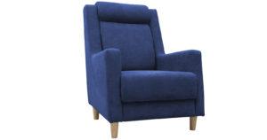 Кресло для отдыха Дарвин темно-синий фото | интернет-магазин Складно