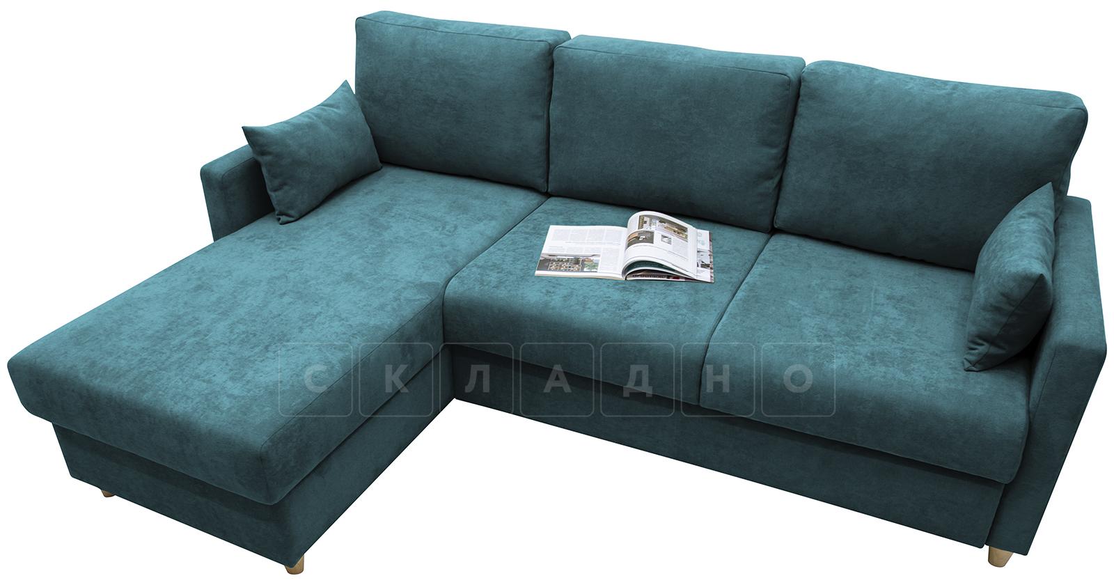 Угловой диван Дарвин бирюзовый фото 4   интернет-магазин Складно