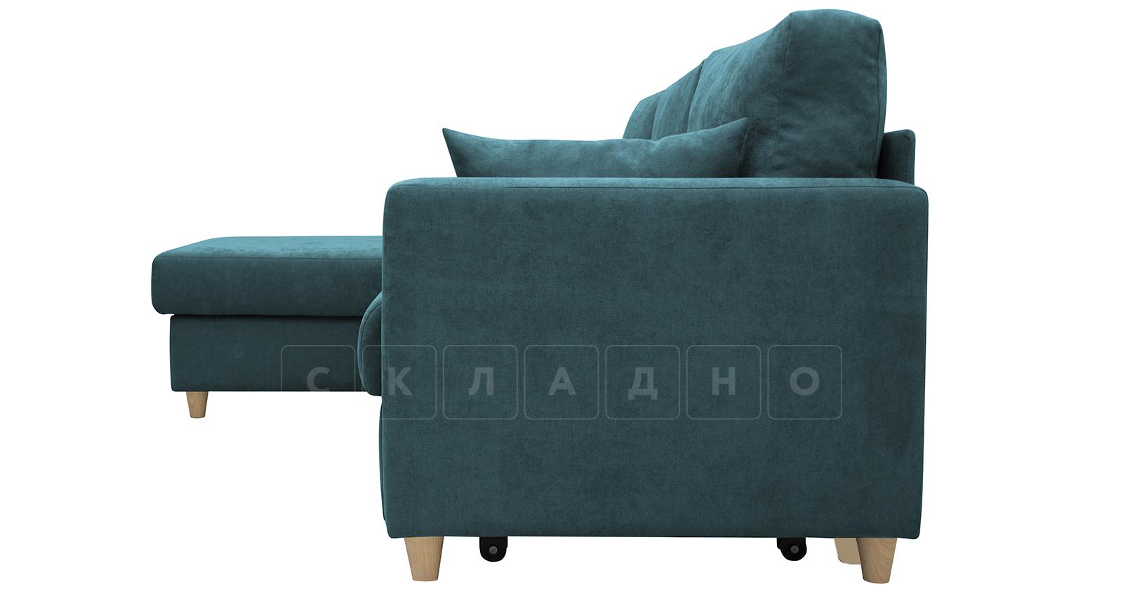 Угловой диван Дарвин бирюзовый фото 6   интернет-магазин Складно
