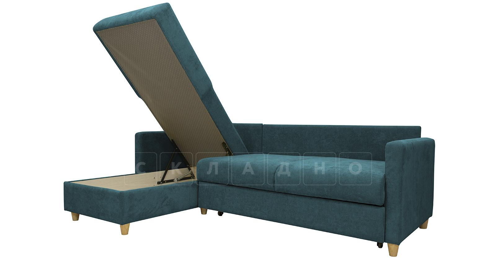 Угловой диван Дарвин бирюзовый фото 8   интернет-магазин Складно