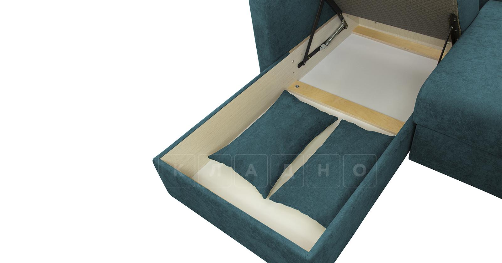 Угловой диван Дарвин бирюзовый фото 9   интернет-магазин Складно